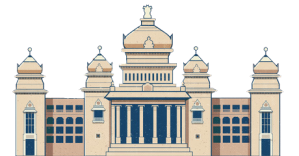 image of historic vidhana-soudha building in Bangalore