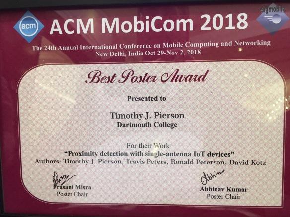 poster award